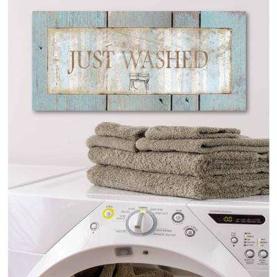"12 in. x 24 in. ""Laundry Room III"" Canvas Printed Wall Art"