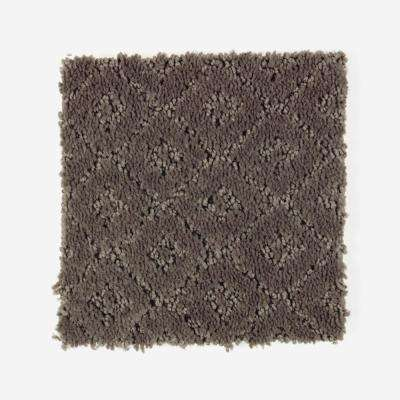 Carpet Sample - Sawyer - Color Leather Tone Pattern 8 in. x 8 in.