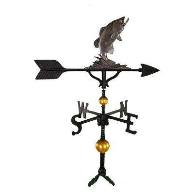 32 in. Deluxe Swedish Iron Bass Weathervane