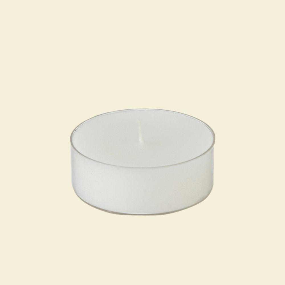 2.25 in. White Mega Oversized Tealights Candles (12-Box)