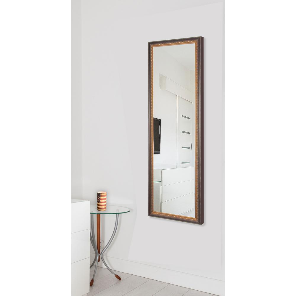 24 in. x 62 in. Vanity Traditional Cameo Bronze Non Beveled Vanity Full Body Mirror