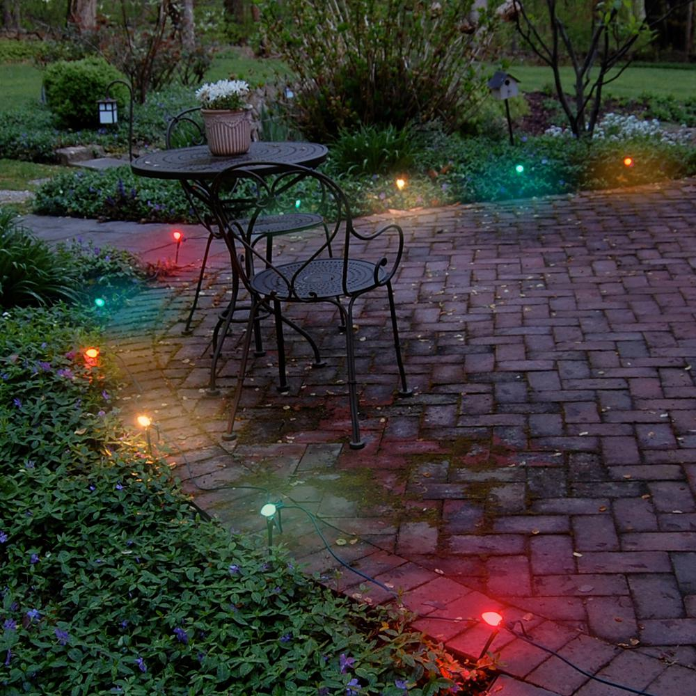 Lumabase Multicolor Electric Pathway Lights String (Set of 10)