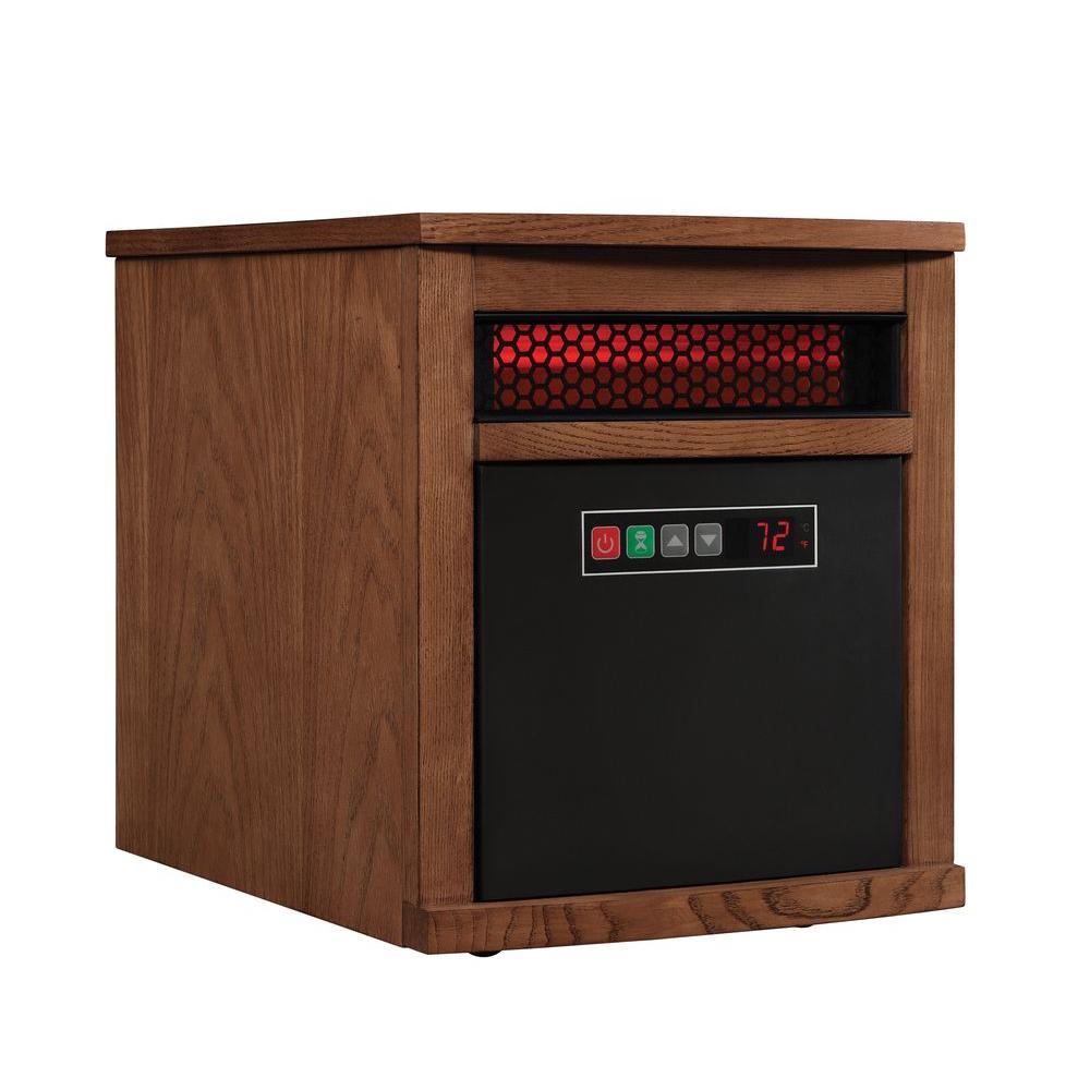 Duraflame 1500-Watt 6-Element Infrared Quartz Electric Portable Heater with Remote Control - Oak