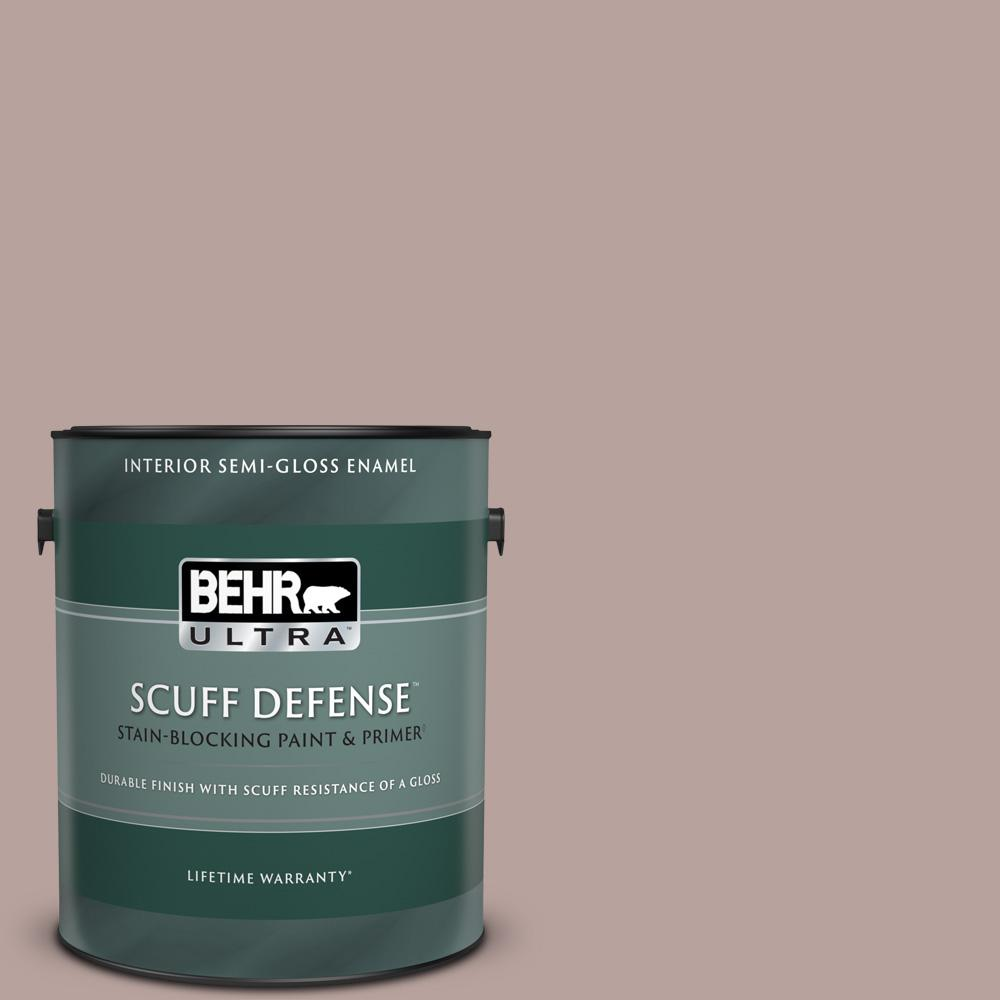 Behr Ultra 1 Gal 720b 4 Desert Echo Extra Durable Semi Gloss Enamel Interior Paint And Primer In One 375401 The Home Depot