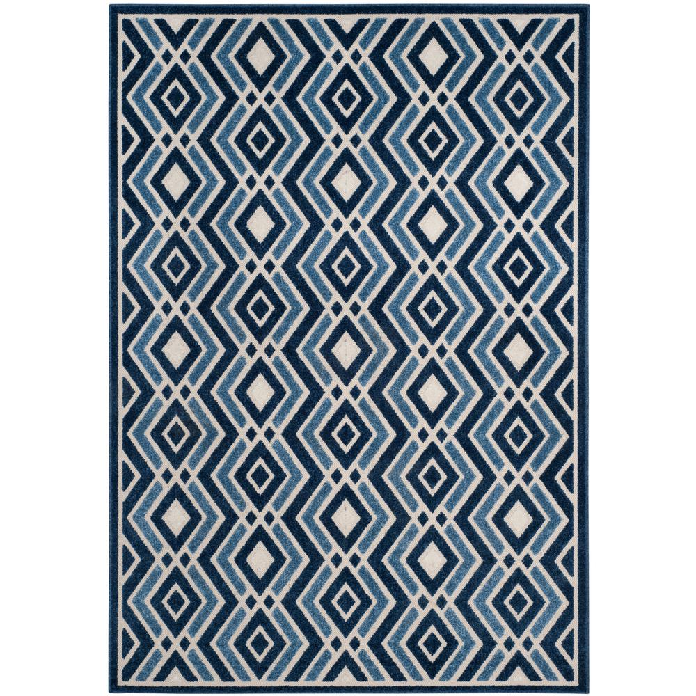 Cottage Ivory/Blue 5 ft. 3 in. x 7 ft. 7 in.