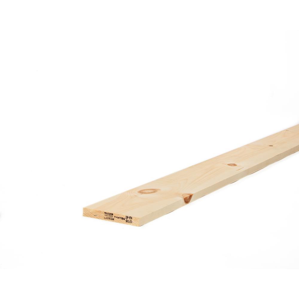 1 in. x 6 in. x 10 ft. Premium Kiln-Dried Square Edge Whitewood Common Board
