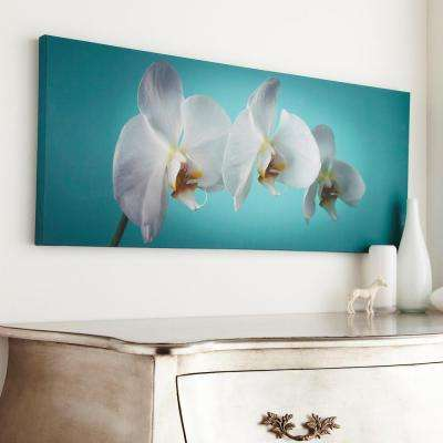 """39 in. x 16 in. """"Teal Orchid"""" by Graham and Brown Printed Canvas Wall Art"""