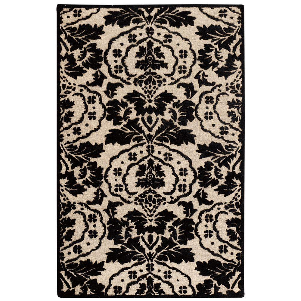 Home Decorators Collection Amberley Beige/Black 3 ft. 6 in. x 5 ft. 6 in. Area Rug