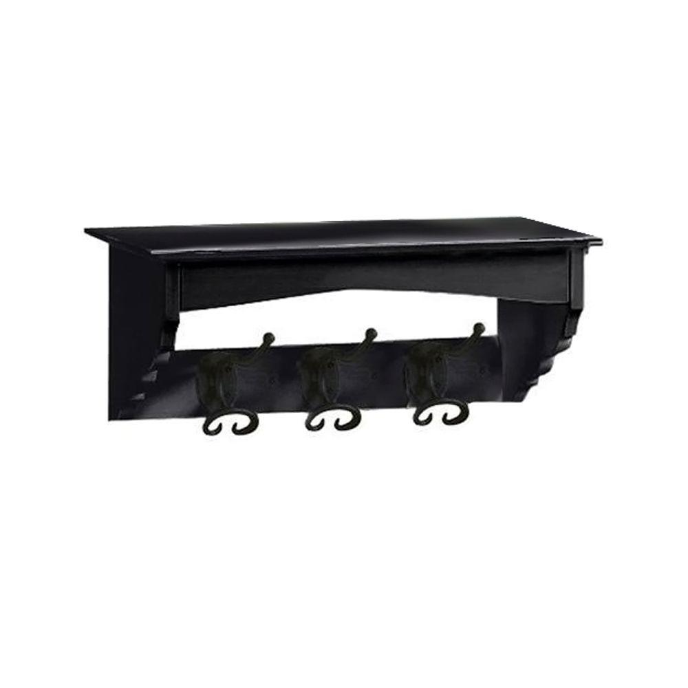 Home Decorators Collection 17 in. W x 7.5 in. H x 7.5 in. D French County Black Mounted Coat Rack