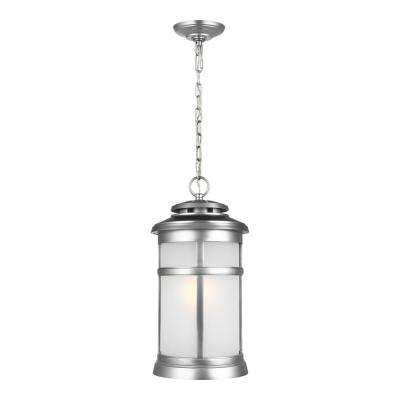 Newport Painted Brushed Steel 1-Light Hanging Lantern