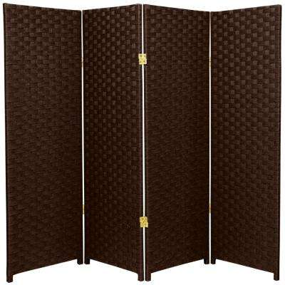 4 ft. Dark Mocha 4-Panel Room Divider