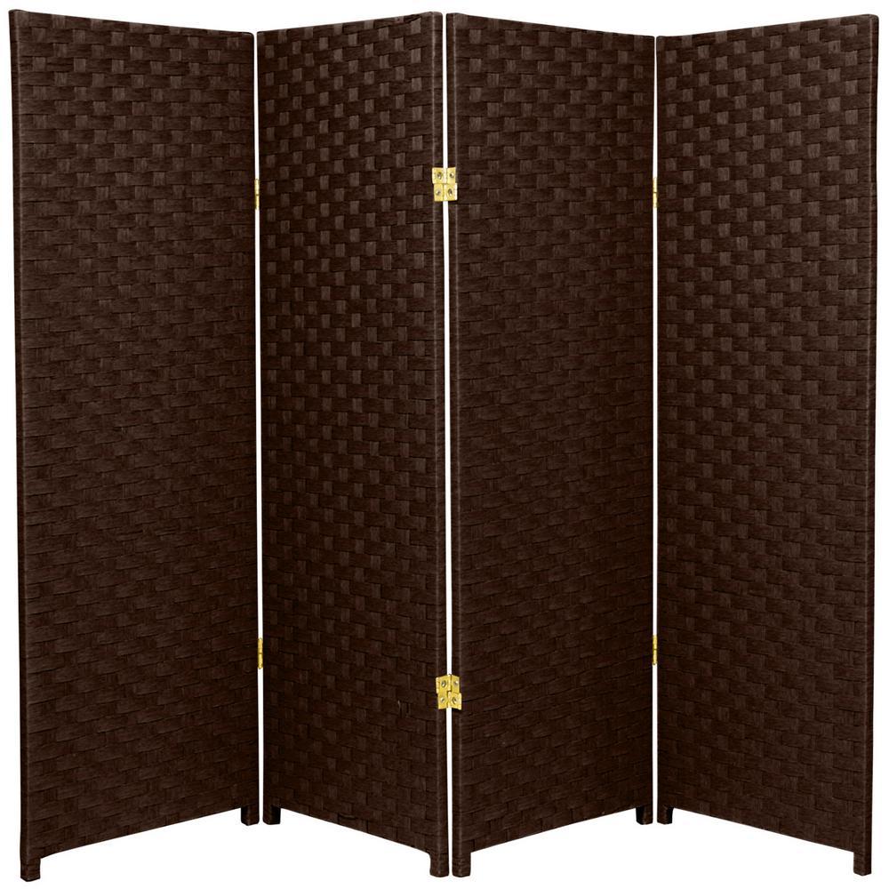 4 ft. Dark Mocha 4-Panel Room Divider