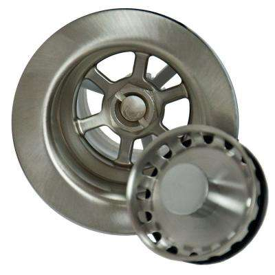 4.5 in. Bar Sink Strainer in Brushed Stainless