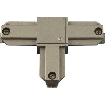 Alpha Trak Brushed Nickel Track Lighting T Connector - Inside Right Polarity Accessory