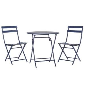 home decorators collection follie navy 3 piece all weather patio bistro set 1356810370 the. Black Bedroom Furniture Sets. Home Design Ideas