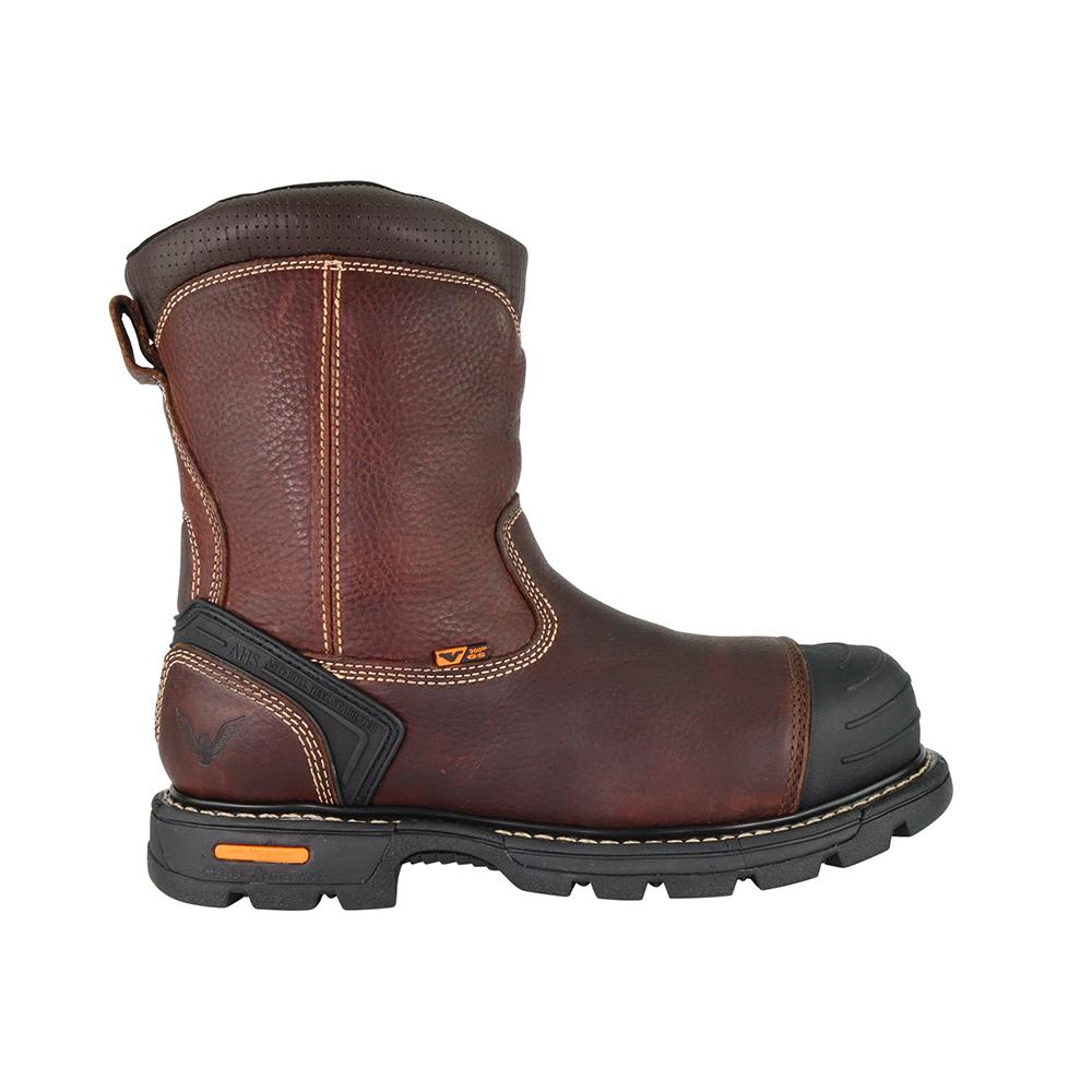 "Thorogood 804-4440 Gen-Flex2 8/"" Side-Zip Composite Safety Toe Wellington Boot"