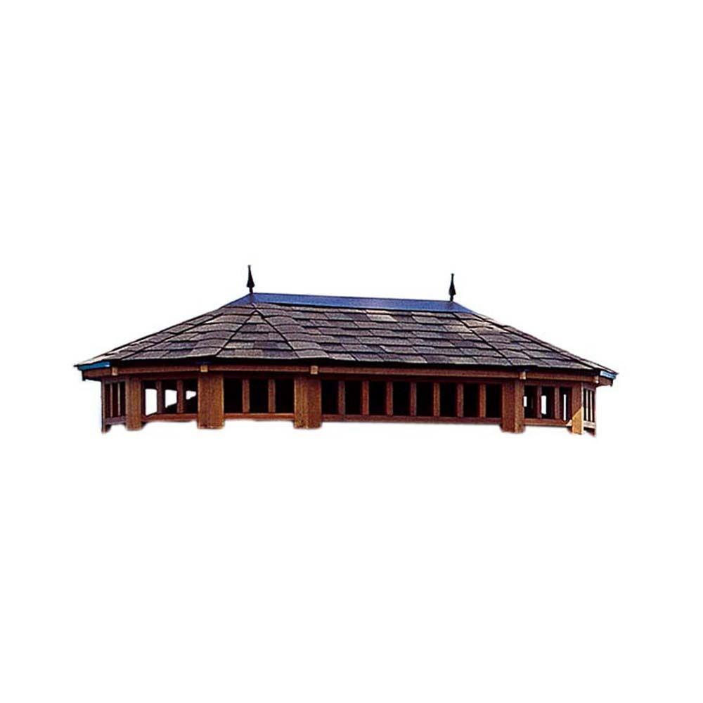 Handy Home Products Monterey 10 ft. x 14 ft. 2-Tier Roof,...
