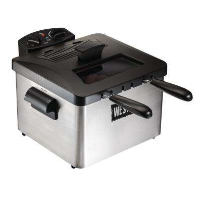 15-Cup 3 l Oil Capacity Dual Basket Deep Fryer
