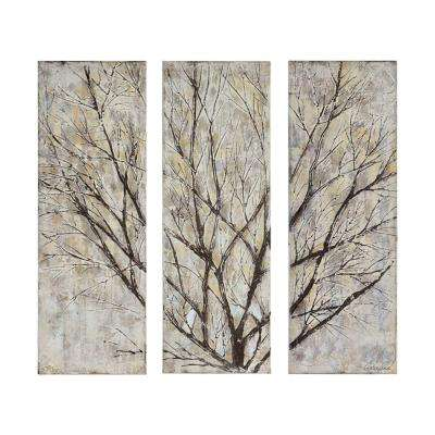 "39.5 in. H x 13.75 in. W ""Spring Creek"" by Chelsea Chase Unframed Canvas Wall Art (Set of 3)"