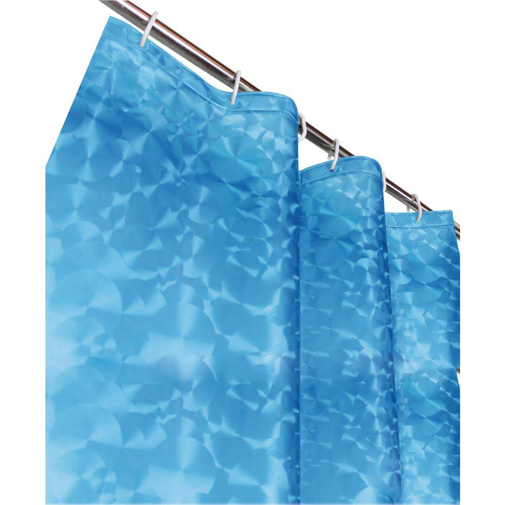 Sphere 72 in. Blue 3D Shower Curtain