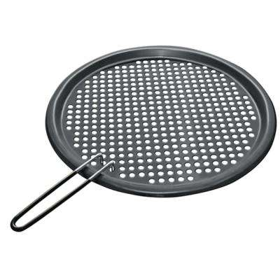 Stainless Steel Fish and Veggie Grill Tray with Removable Handles in Non-stick PTFE Coating