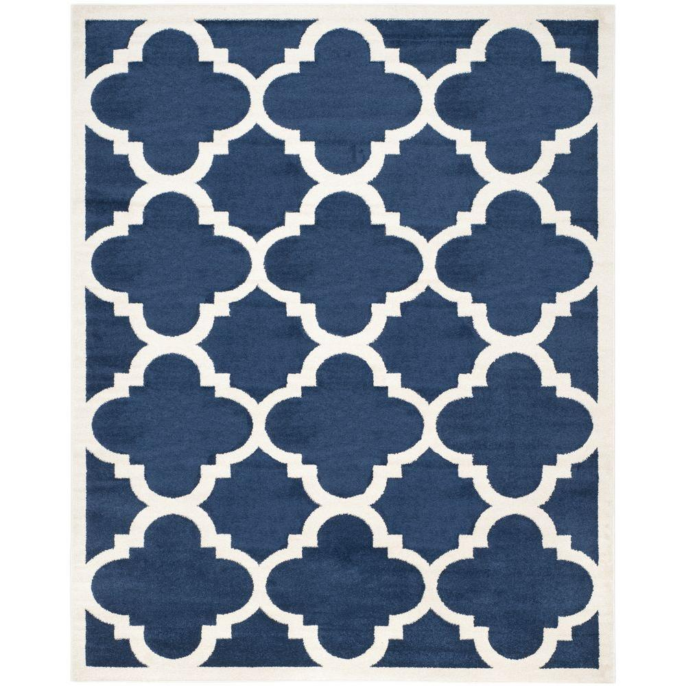 Amherst Navy/Beige 9 ft. x 12 ft. Indoor/Outdoor Area Rug