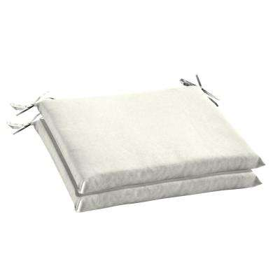 20 X 18 Sunbrella Canvas White Outdoor Chair Cushion 2 Pack