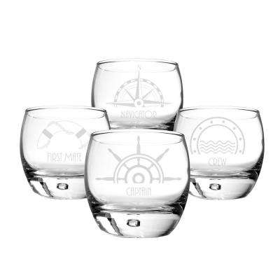 Nautical 10.75 oz. Glass Heavy Based Whiskey Glasses