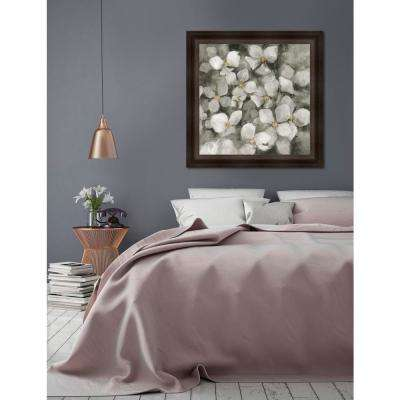 33.25 in x 33.25 in 'Midnight Neutral Hydrangea' by Marilyn Hageman Textured Paper Print Framed Wall Art