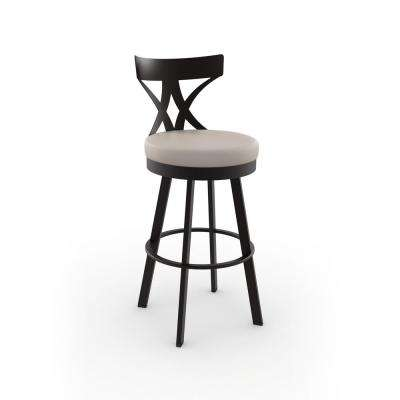 Washington 26 in. Brown Metal Beige Polyurethane Counter Stool