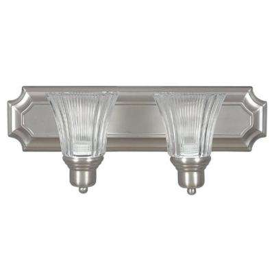 Bourland 2-Light Satin Nickel Bath Vanity Light