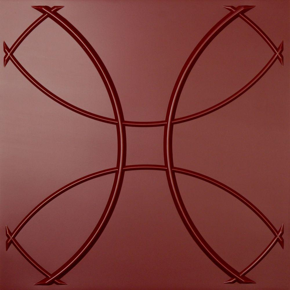 Ceilume Celestial Merlot Evaluation Sample, Not suitable for installation - 2 ft. x 2 ft. Lay-in or Glue-up Ceiling Panel