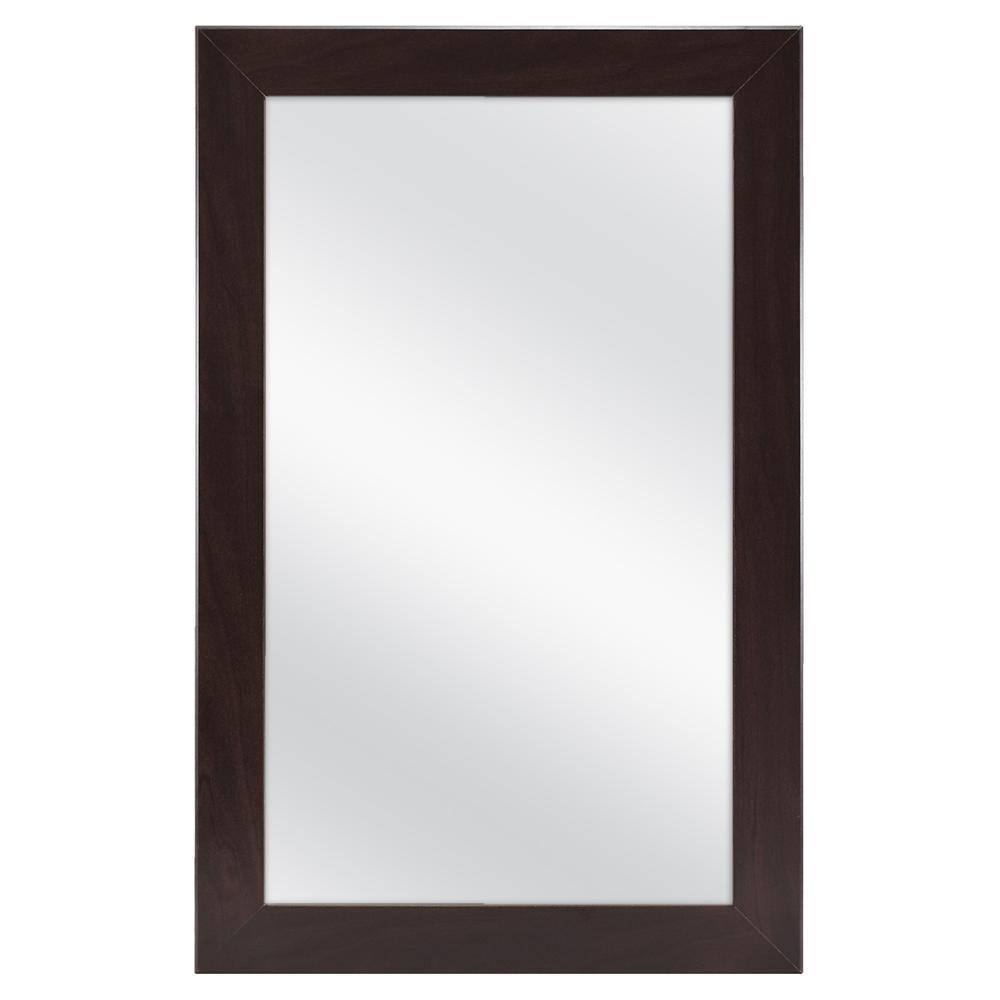 15-1/4 in. W x 26 in. H Framed Surface-Mount Bathroom Medicine Cabinet in Java