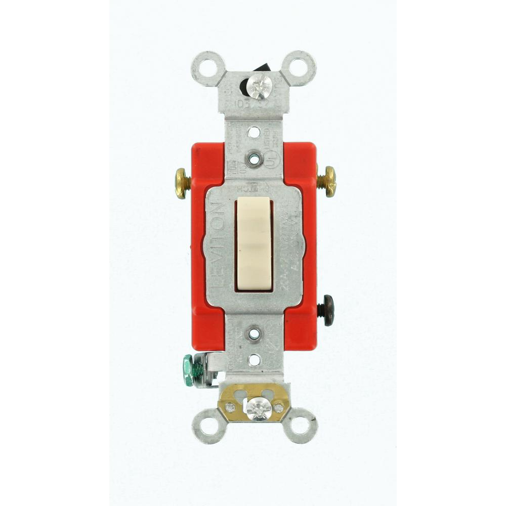 15/20 Amp 3-Way Industrial Toggle Switch, Light Almond