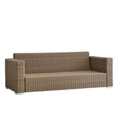 Camari Mocha Square Arm Wicker Outdoor Sofa