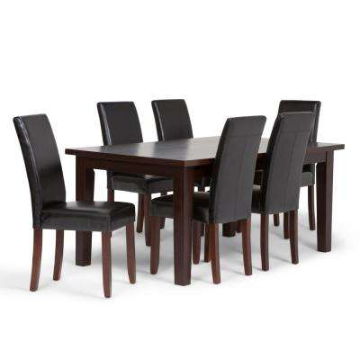Acadian 7 Piece Midnight Black Dining Set
