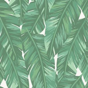 Dumott Green Tropical Leaves Paper Strippable Wallpaper (Covers 56.4 sq. ft.)