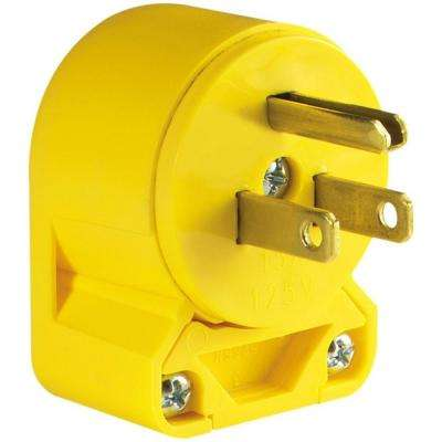15 Amp 125-Volt Heavy Duty Grade Vinyl Plug, Yellow
