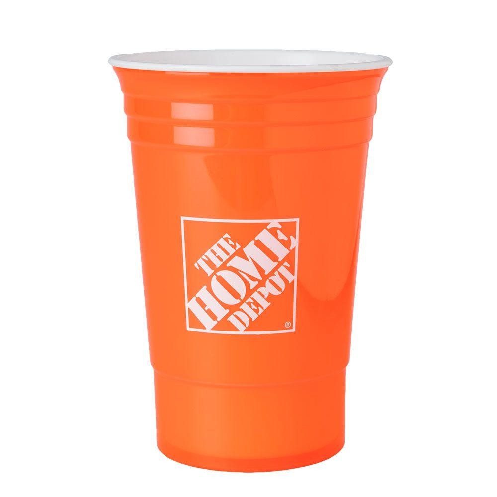 The Home Depot 16 oz. Home Depot Cup in Orange