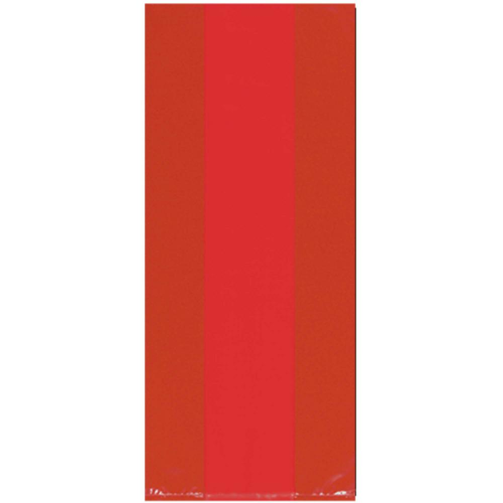 11.5 in. x 5 in. Apple Red Cellophane Party Bags (25-Count,