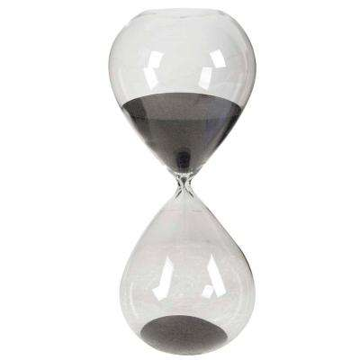 6 in. x 15 in. Black Decorative Hour Glass
