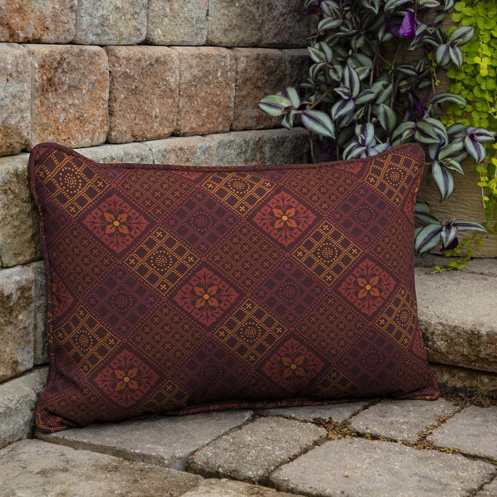Azulejo Southwest Outdoor Lumbar Pillow (2-Pack)