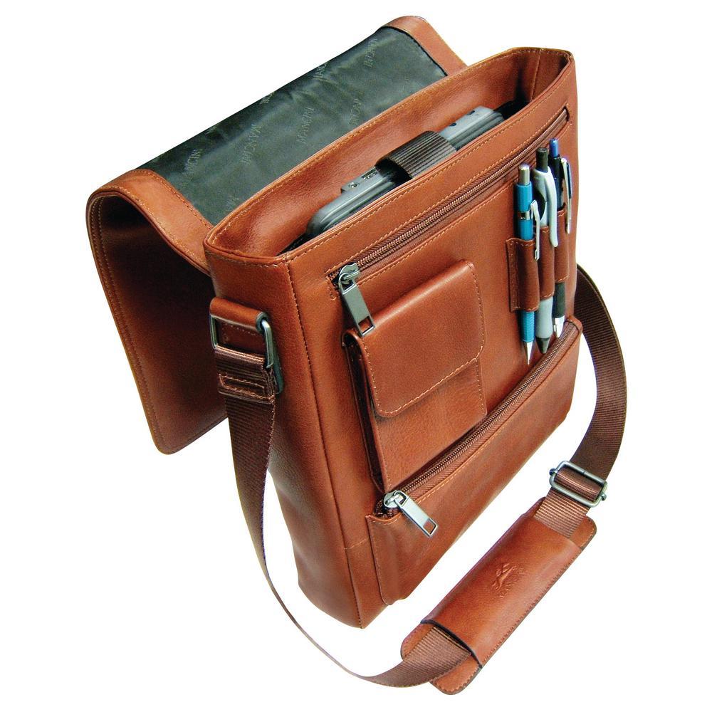 Messenger Style Cognac Unisex Bag for 10 in. Tablet/ E-Reader