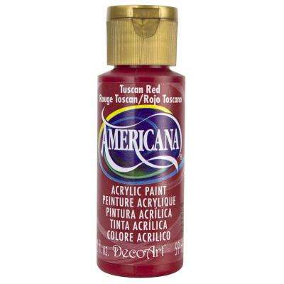 Americana 2 oz. Tuscan Red Acrylic Paint