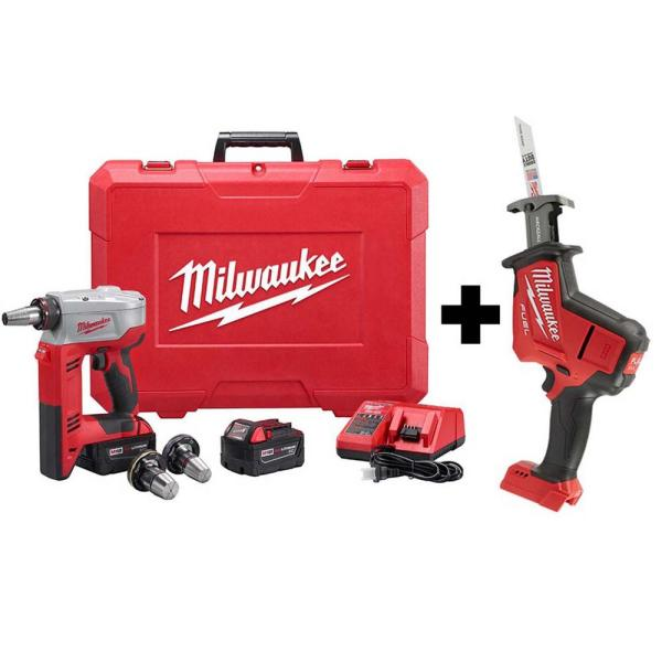 M18 18-Volt Lithium-Ion Cordless 3/8 in. to 1-1/2 in Expansion Tool Kit with HACKZALL Reciprocating Saw