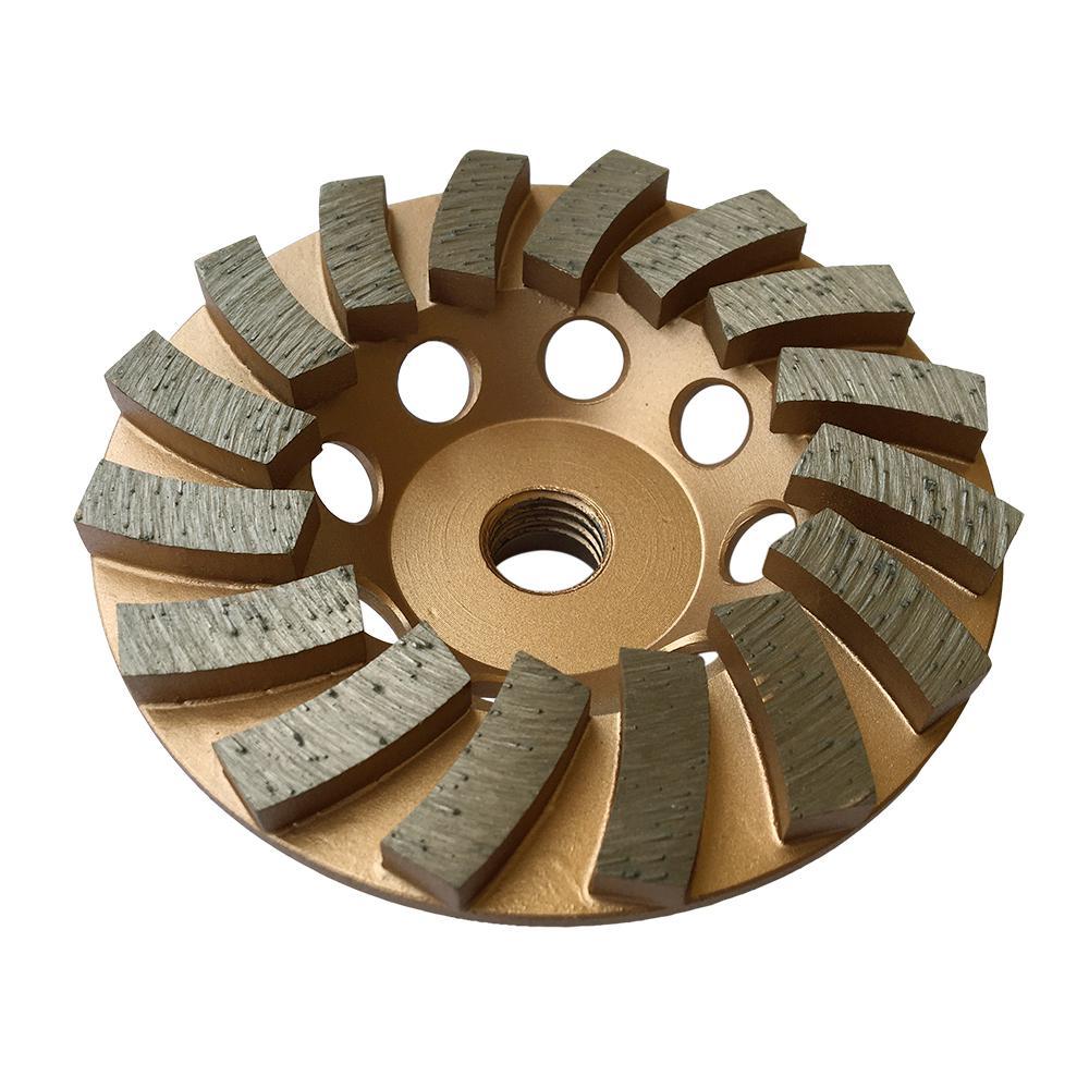 4 in. Diamond Grinding Wheel for Concrete 16 Segments 5/8 in. - 11 Arbor