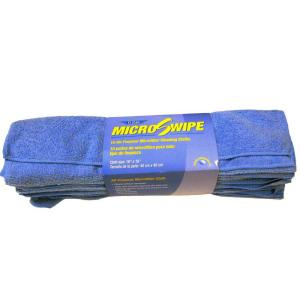 16 in. x 16 in. Blue MicroSwipe and Microfiber Cleaning Cloths (10-Pack)