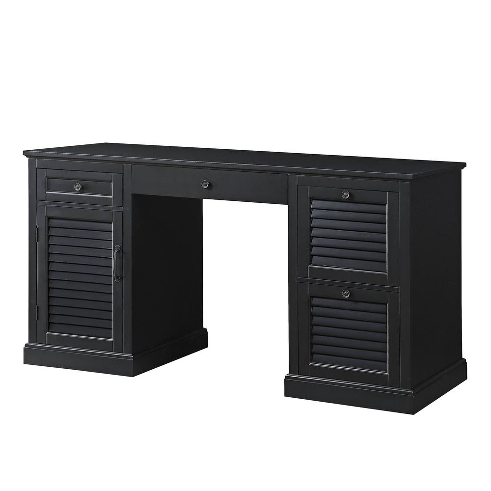 Usl Black Chapman 4 Drawer Desk