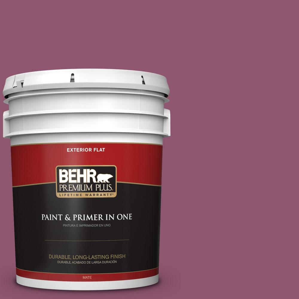 5 gal. #PPU1-17 Majestic Orchid Flat Exterior Paint
