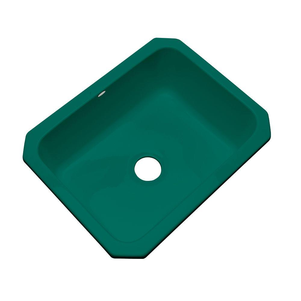 Thermocast Inverness Undermount Acrylic 25 in. Single Bowl Kitchen Sink in Verde